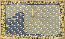 Needlepoint Carpet, with fleur-de-lis decoration, 5' x 7' 4.