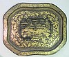 Chinese gold painted lacquer tray