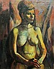Unknown painter (20th century): Nude woman