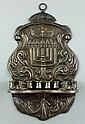 Russian silver wall mounted menorah