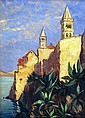 Unknown 20th c. painter: The Island of Rab, Croatia