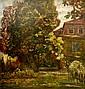 Andor Dudits (Hungarian, 1866 - 1944): Garden scene