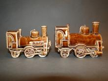 Two train pottery banks