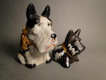 Two Scottie Dog Pottery Banks