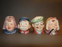 Lot 4 Brownies Head Pottery Banks