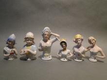 Lot 6 Pin Cushion Half Dolls