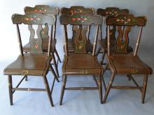 Set 6 Painted Side Chairs