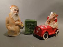 Santa Claus Lot Rare Santa Pottery Bank, others