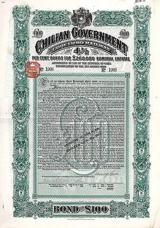 Chilian Government (Coquimbo Railway)