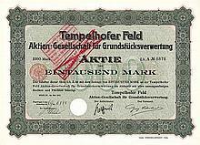 Tempelhofer Feld AG für Grundstücksverwertung