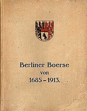 Georg Buss - Berliner Boerse von 1685-1913