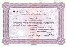 Altenburger und Stralsunder Spielkarten-Fabriken AG