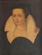 Ecole du nord du XIXème siècle Portrait de dame dans le goût du XVIème siècle. Huile sur toile. 55 x 44 cm.