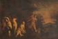 Ecole vénitienne vers 1620 Diane et Acteon. Toile. 46 x 69 cm.