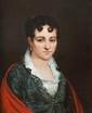 Jean-Baptiste MAUZAISSE (1784-1844) Portait de jeune fille. 1810. Huile sur toile. Signée en bas à droite et datée. 56 x 47 cm.