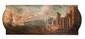 Ecole italienne du XVIIIème siècle Paysage de port imaginaire. Toile. 45 x 145 cm.