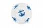 Tournai. Cinq assiettes en porcelaine tendre à décor floral bleu dit « ronda ». Epoque XVIII - XIXème siècle. D. : 23,3 cm.
