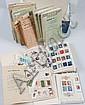 Allemagne Fédérale et D.D.R. :  carnets de circulation, timbres-poste  neufs et oblitérés dans un carton.