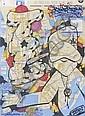 Bom 5 (1963)The bronx boys (2011).Marqueur sur plan de métro.Signé et daté en bas à gauche.78 x 58 cm.