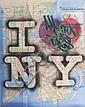 EQAll city tags (2012).Aérosol et marqueur sur plan de métro.Signé et daté en bas à droite.74 x 58 cm.