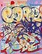 Cope 2 (1968)Defiance.Aérosol et marqueur sur plan de métro de New York.75 x 58 cm.