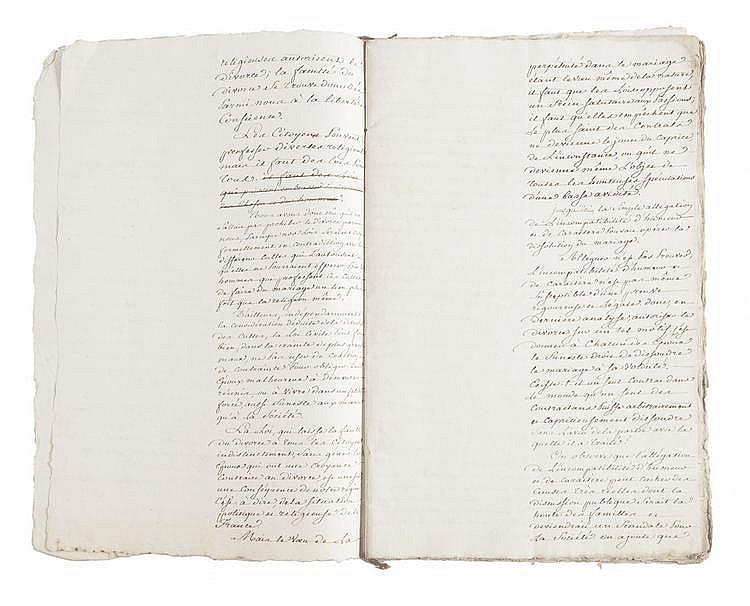 PORTALIS Jean-Etienne-Marie (1746-1807) Exposé des motifs d'une loi, relative à l'établissement de tribunaux criminels spéciaux 16 nivôse an IX, Discours sur le projet de loi relatif à l'établissement de tribunaux criminels spéciaux 18 pluviôse an