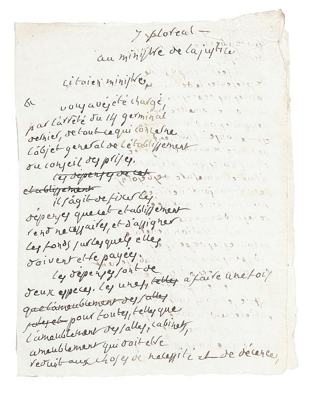 PORTALIS Jean-Etienne-Marie (1746-1807) CONSEIL DES PRISES, mai-août 1800 Réunion de documents comprenant divers documents manuscrits.