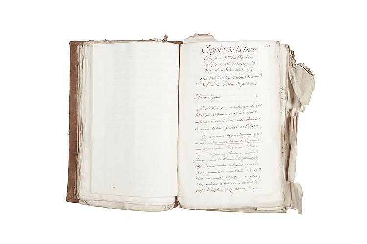 PORTALIS Jean-Etienne-Marie (1746-1807) Administration. 1779-1780 MANUSCRIT : un volume in-folio, environ 1127 pages.