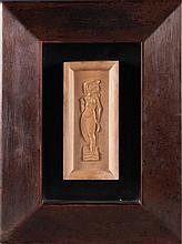 Jean et Joël MARTEL (1896-1966) Baigneuse. Circa 1930. Bas-relief en grès.