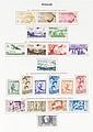 Italie : collection de timbresposte  neufs et oblitérés dans un album  Yvert et Tellier, du début à 1990.