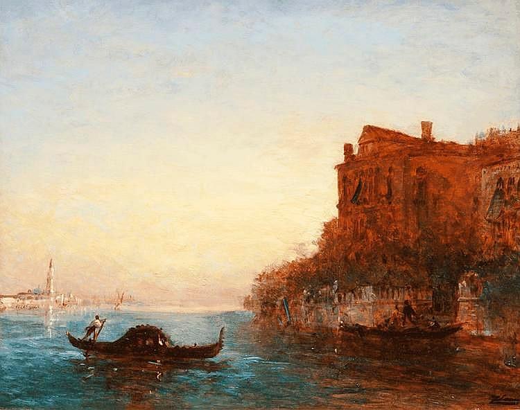 Félix ZIEM (1821-1911)Le grand canal à Venise.Huile sur panneau.Signée en bas à droite.59 x 73 cm.