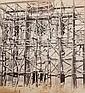 ADOLPHE TERRIS (1820-1899)  Grands Travaux de Marseille, Eglise St Michel, 1864.  Tirage sur papier albuminé d'après négatif verre au  collodion monté sur carton, légende imprimée sur le  montage.  39.8 x 36 cm.