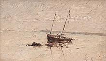 Théodore GUDIN (1802-1880) Marine par temps calme.