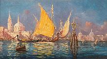 François Léon PRIEUR-BARDIN (1870-1939) Venise le grand canal.