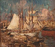 Horace RICHEBÉ (1871-1964) Le port de Marseille.