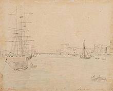 Charles DESAVARY (1837-1885) Le Vieux Port de Marseille.