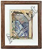 JEAN CHARLOT (French-American 1898-1979) Nativity, watercolor, signed lower right Jean Charlot and dated 1943. Contained in distressed wood frame under glass. Condition: no visible defects, frame splitting at corners. Dimensions: 14'' X 10 1/2'',