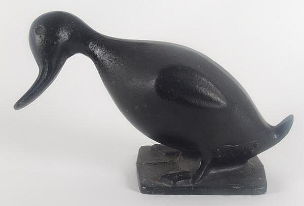 VINTAGE DUCK DOORSTOP. Vintage cast iron duck