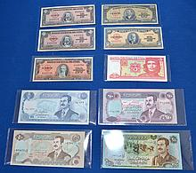 ASSORTED FOREIGN PAPER CURRENCY  Condition, age appropriate wear. All items sold as is.
