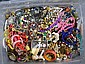 BIN OF COSTUME JEWELRY. Condition: all jewelry sold as is.