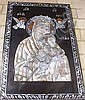 Mother and child mother of pearl decorated panel,