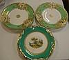 Three various Victorian cabinet plates