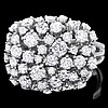 14ct white gold, 51 stone diamond ring 51 diamonds