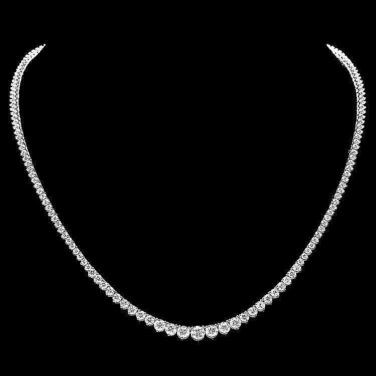 18ct white gold and diamond necklace 184 diamond