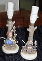 Hummel girl and boy candle sticks as inspected