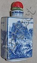Chinese blue & white porcelain snuff bottle of
