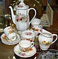 Royal Doulton Orchid coffee set comprising Coffee