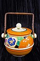 Clarice Cliff Fantasque biscuit barrel 15cm high