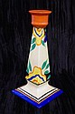 Clarice Cliff Fantasque candlestick 20cm high