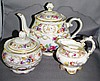 Bavarian porcelain teapot & sugar bowl by
